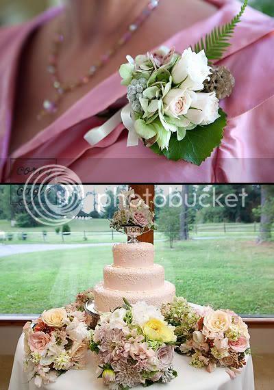 pink detail for wedding at Highland Lake Inn