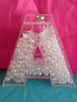 3D Acrylic Fillable Letters for Candy Bar Wedding