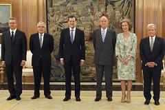 Rajoy asiste a la jura o promesa del presidente del Supremo
