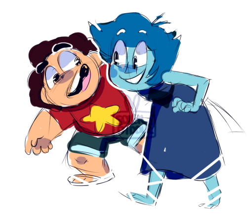 Anonymous said: could i request a steven and lapis, not necessarily full on colored drawing, just a lil sketch Answer: bros hanging out~