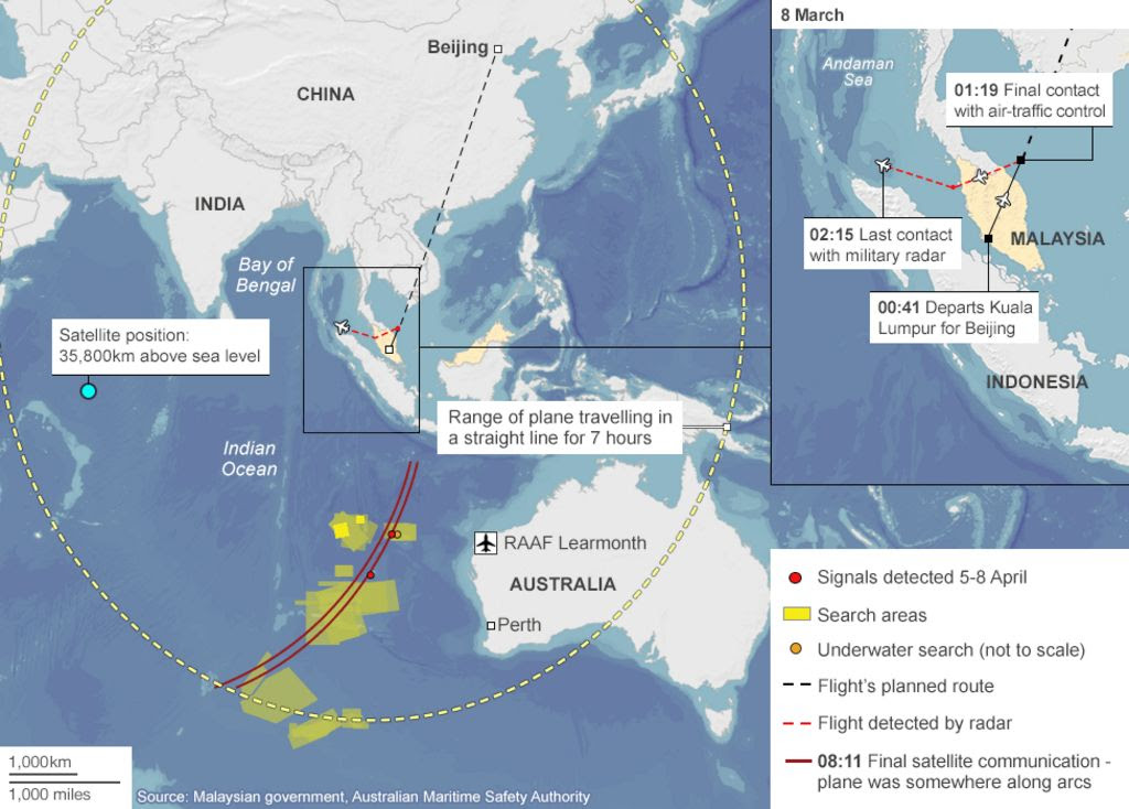Missing Malaysia Plane Mh370 What We Know Bbc News