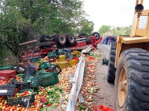 Acidente em Mundo Novo, na Bahia (Foto: Corpo de Bombeiros/ Divulgação)
