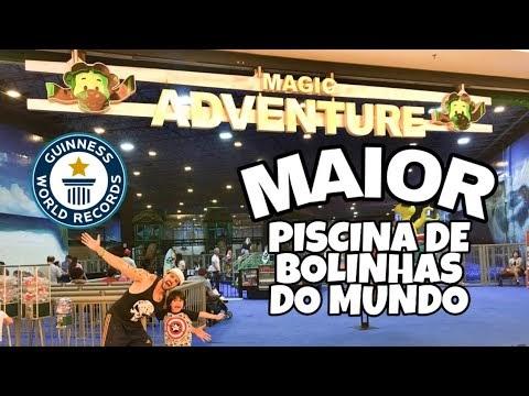 MAIOR PISCINA DE BOLINHAS DO MUNDO GUINNESS BOOK EXPLORAMOS TUDO - Vlog CASA MAROMBA