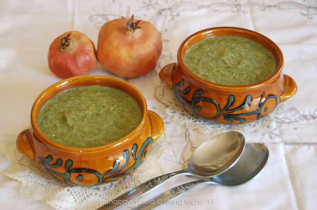 Broccoli and spinach cream soup