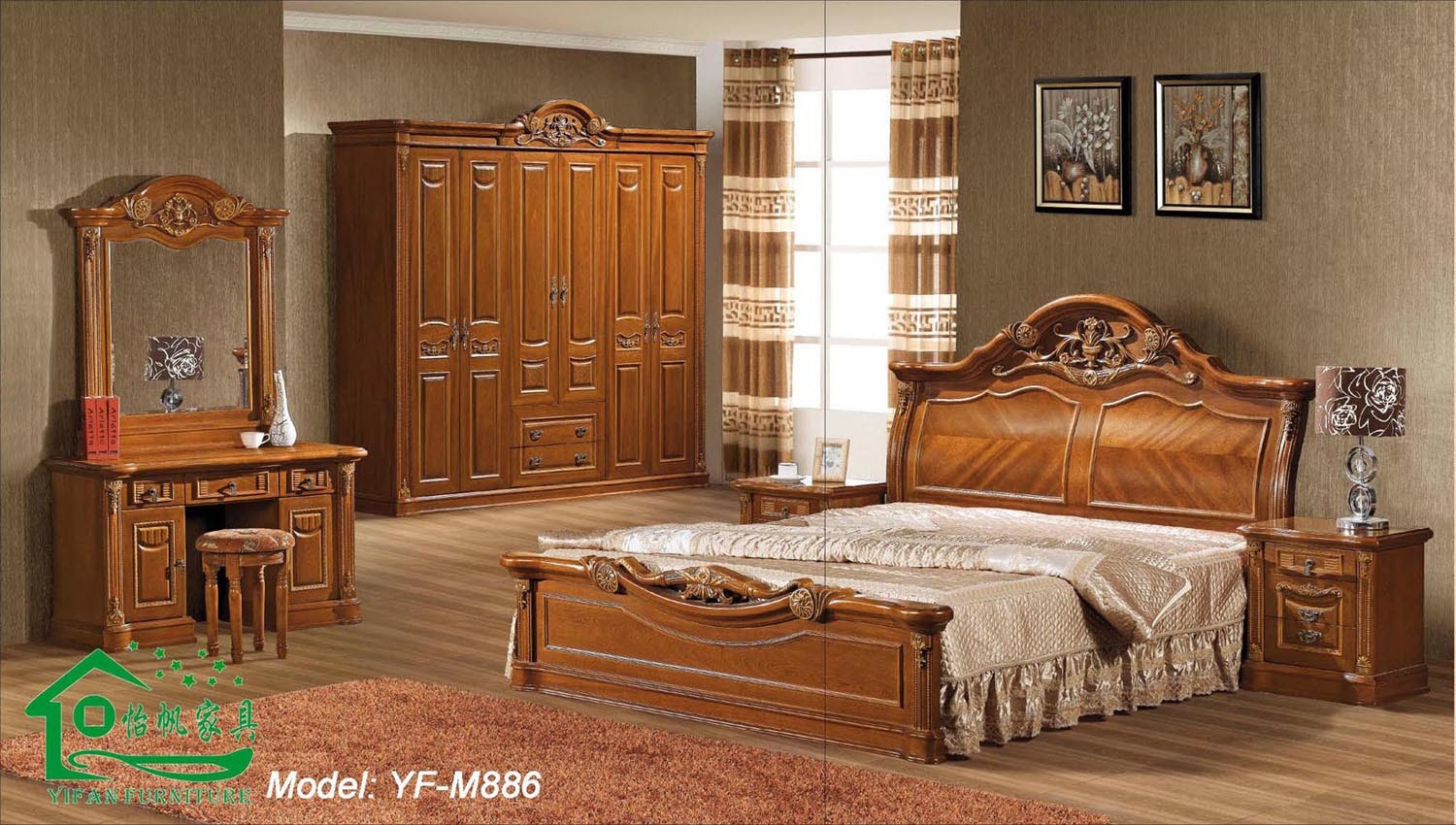 Photos: Bridgeport Mission Style Oak Bedroom Collection ...