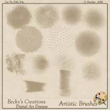 Artistic Brushes - ABR - by Beckys Creations