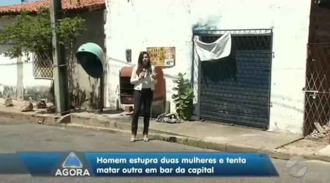 Mulheres são estupradas e idosa é agredida dentro de bar no Dirceu