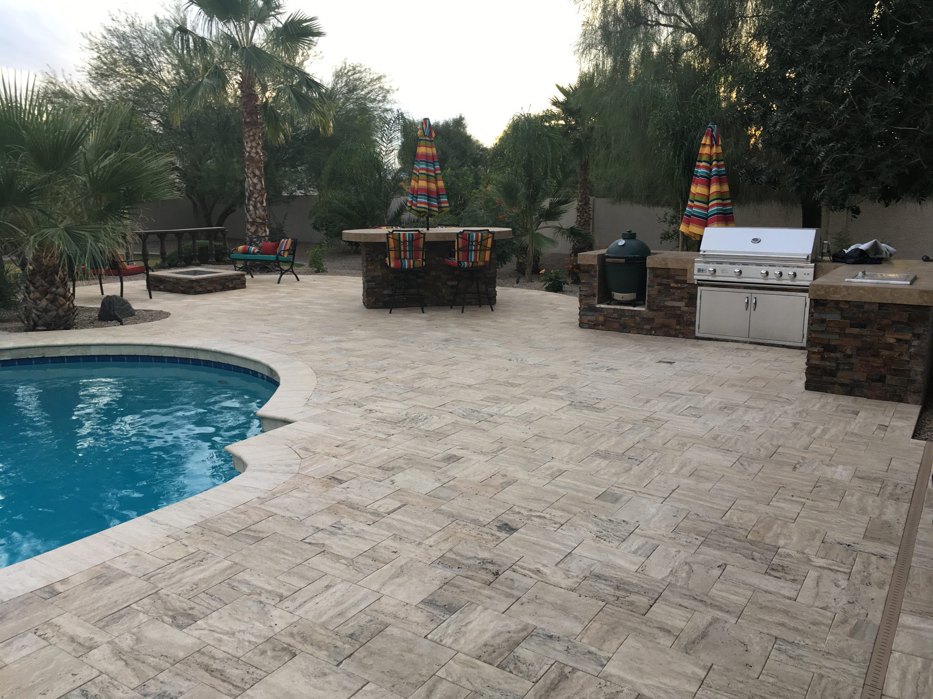 Arizona Backyard Landscape Design Staycation Ready In Queen Creek