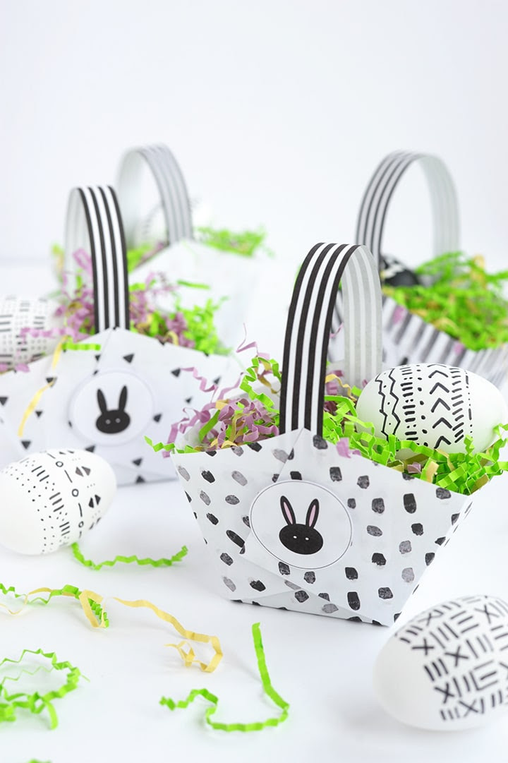free printable paper easter basket 2