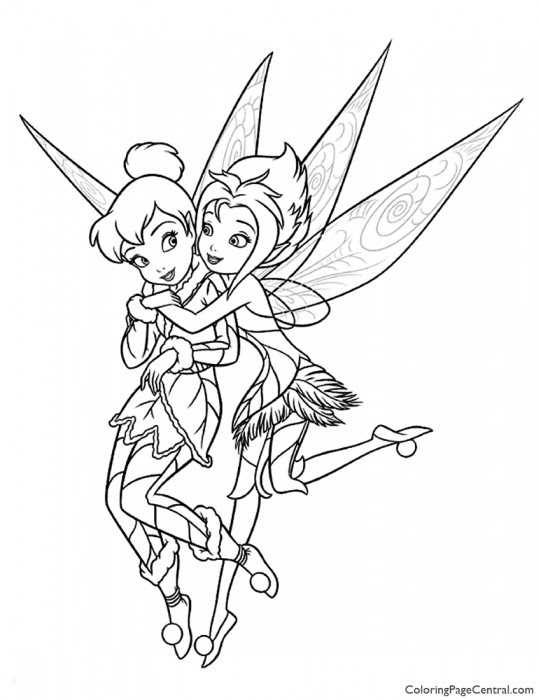 Tinkerbell - Periwinkle 01 Coloring Page | Coloring Page ...