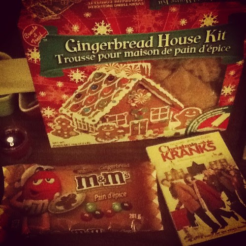 During my Christmas shopping this morning I found Gingerbread M&Ms and I bought a gingerbread house too! Now it's time for a Christmas movie to end my day ^_^ #christmas #gingerbreadeverything
