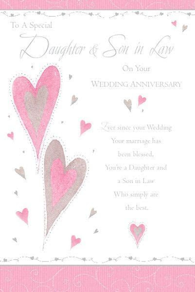 Wedding Anniversary Wishes To Daughter And Son In Law