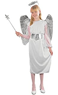 GIRLS ANGEL COSTUME AGE 11-13 BR (disfraz)