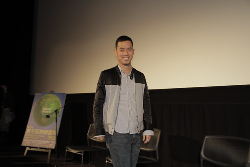 Ming Jin enters for the Q and A of INHALATION + THE TIGER FACTORY