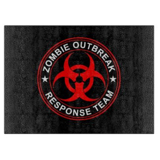 Zombie Outbreak Response Cutting Board walkers