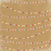 Sprinkles Paper - Happy Days - Kraft Funday By My Minds Eye