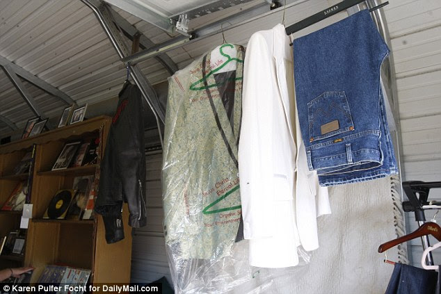 Items included clothes worn by Jerry Lee Lewis himself over the years.  A show jacket from the Class of 55 (pictured in white) was the top item of clothing at $15,000