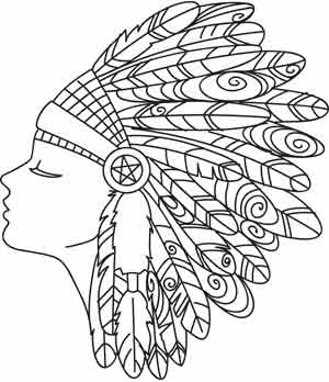 Feather Headdress | Urban Threads: Unique and Awesome ...
