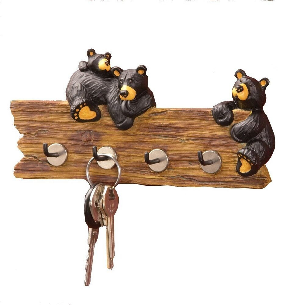 Bear Key Holder Hook Hanging Rack Wall Mount Home Decor Kitchen Resin Small Gift  eBay