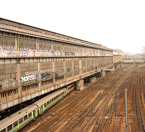 Train & Graffiti by Itajai de Albuquerque