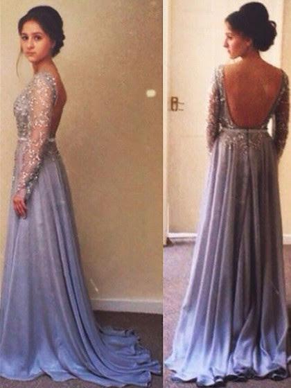Chiffon Tulle A-linha Pescoço da colher Trem Tribunal Beading Dresses Prom # JCD02018677