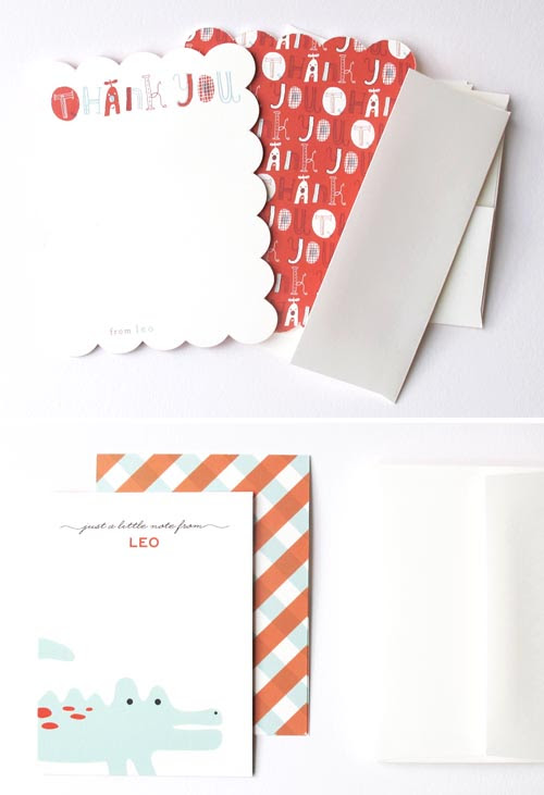 Minted Stationery for Leo