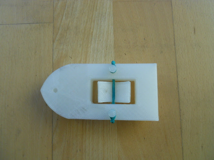 Boat w Rubber Band Propeller by indusMaker - Thingiverse