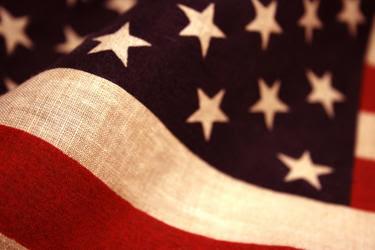 US flag up-close