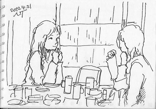 スケッチクロール夕食会 3 The dinner