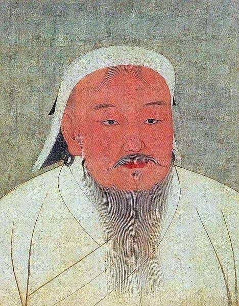Gengis Khan come raffigurato in un 14 ° secolo album Yuan era.