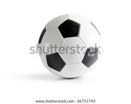 How To Kick A Soccer Ball High. stock photo : high resolution