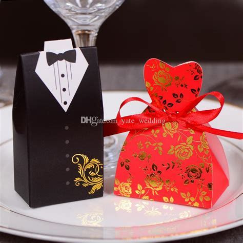Cheap Price Bride And Groom Wedding Candy Boxes Black
