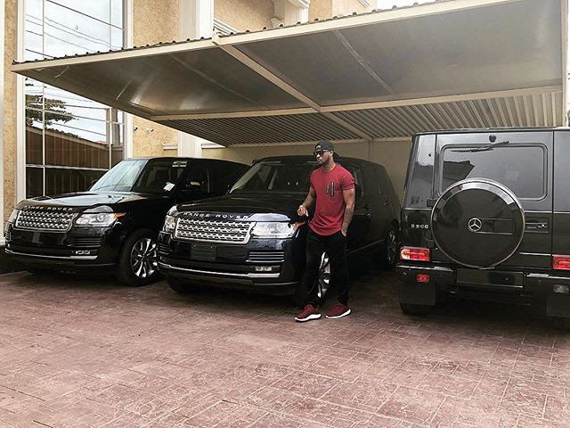 """Peters Village"" – Peter Okoye Flaunts His Fleet Of Cars (Photo)"