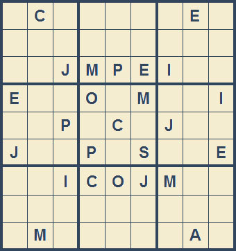 Mystery Godoku Puzzle for August 24, 2009