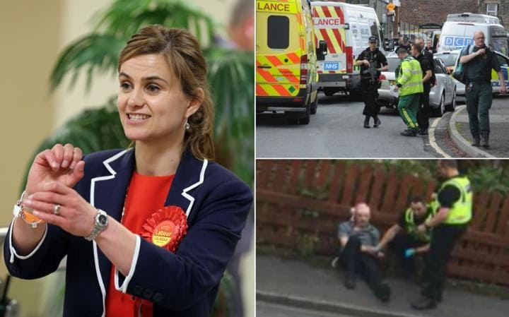 labour mp jo cox has been killed by a 52 year old man Tommy Mair