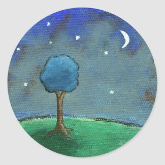 Starry Starry Night From Original Painting sticker