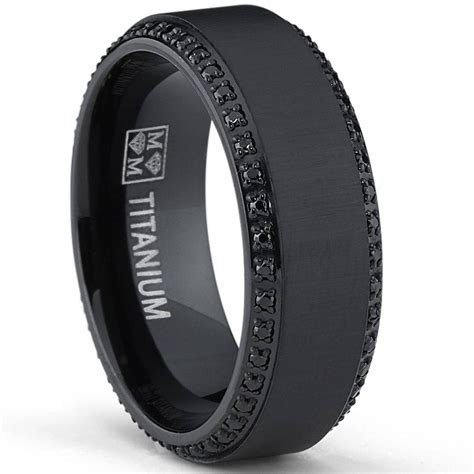 15 Best Ideas of Men's Black And Blue Wedding Bands
