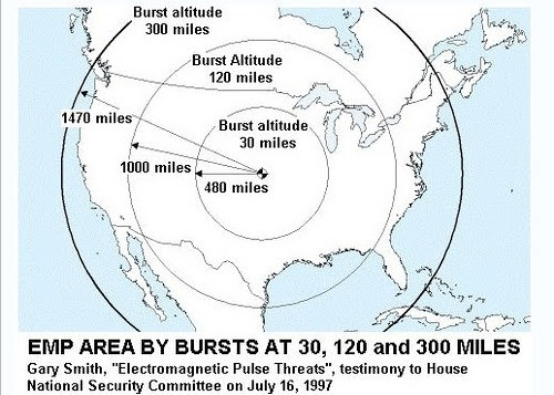 North Korea only one week away from long range rocket that can reach California EMP Burst North America