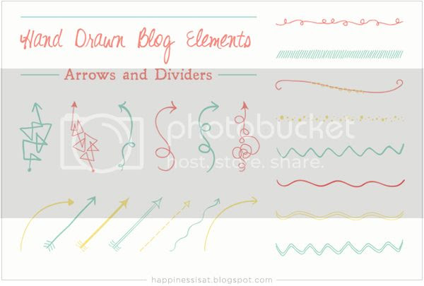 Hand drawn graphic elements for sale on Creative Market - Arrows and Dividers