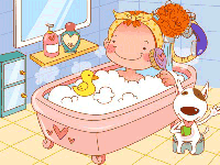 Puzzle en ligne, le bain
