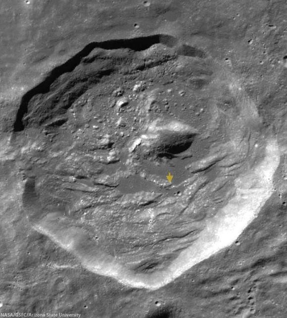 Rutherfurd crater (LROC WAC)