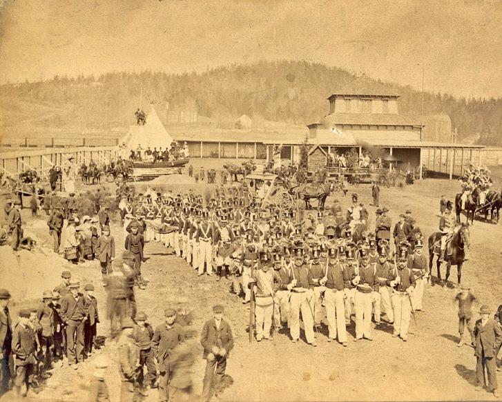 Gathering for the Parade, Loyalist Centennial, Saint John, New Brunswick, Canada