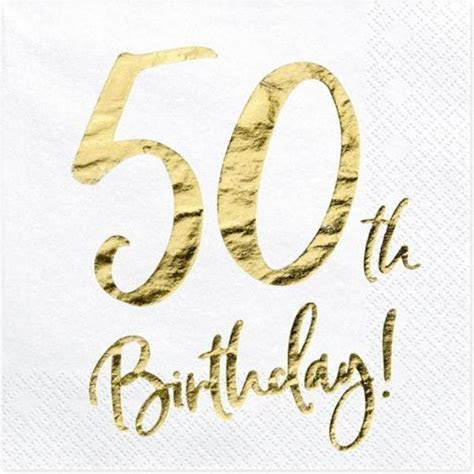 50th Birthday Party Napkins   18th Birthday Party Supplies