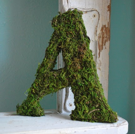 Decorative Moss Letters