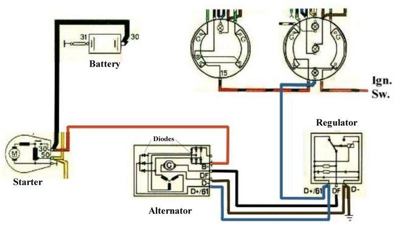 1971 Alternator Wiring Diagram Help Pelican Parts Forums