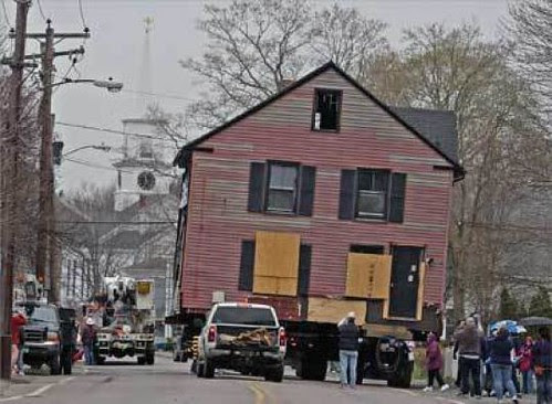 Moving a house instead of demolishing it