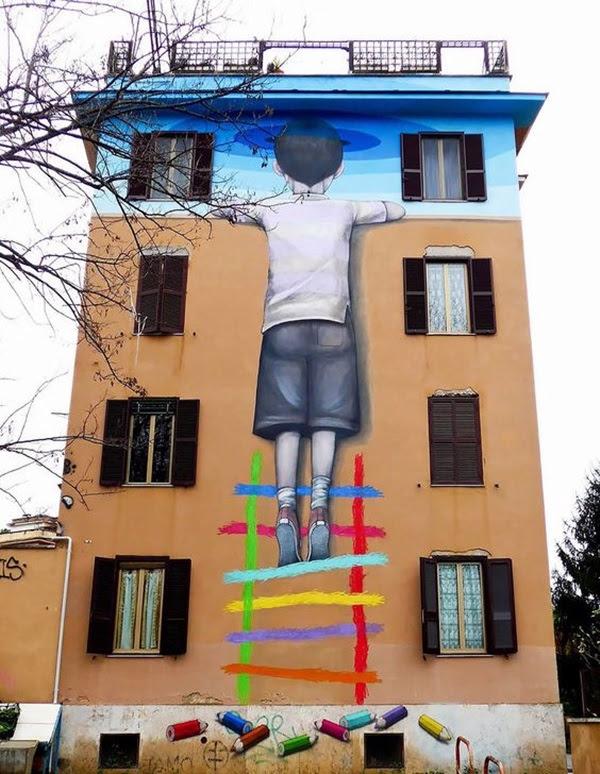 Amazing Huge Street Art on Building Walls (37)