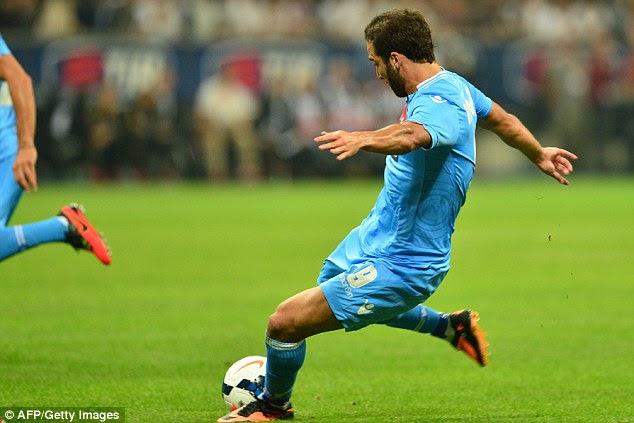 On target: Gonzalo Higuain scored again for his new club