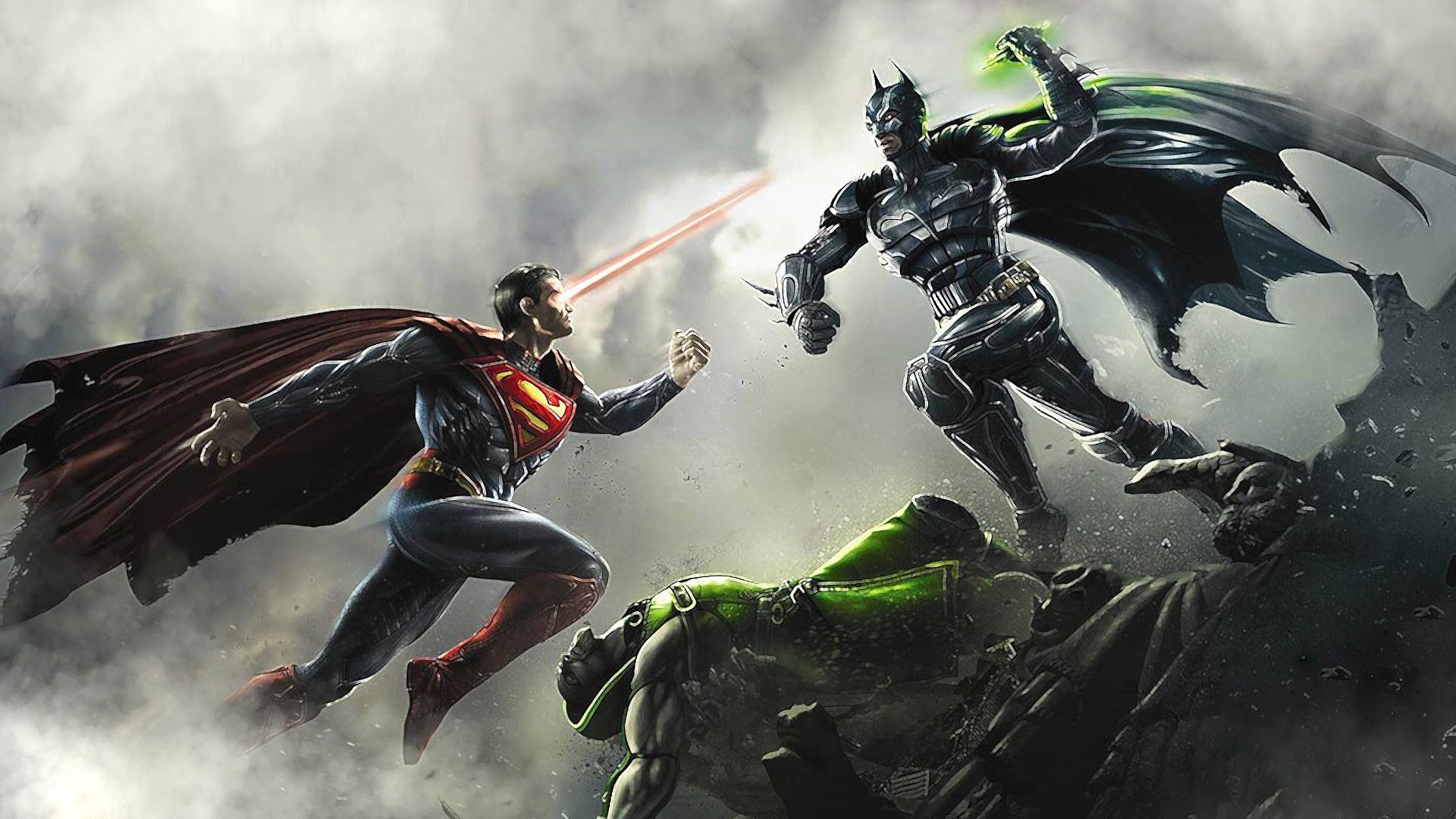 Batman Vs Superman Fight Hd Wallpaper