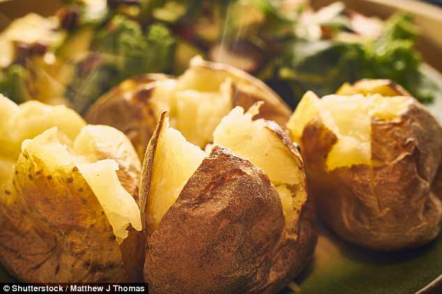 The program reveals there are nearly 90g - or 19 lumps - of sugar in a single baked potato